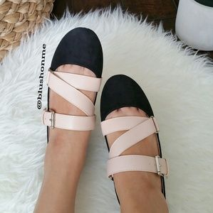 Shoes - Strappy Buckle Flats